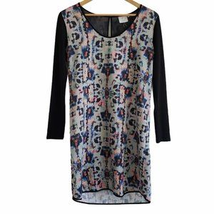 Anthro HD in Paris abstract shift dress blue 4